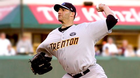 Andy Pettitte throws against Altoona in his second rehab start.