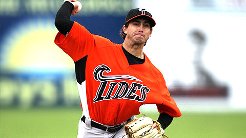 Miguel Gonzalez is 2-1 with a 1.50 ERA for Triple-A Norfolk.